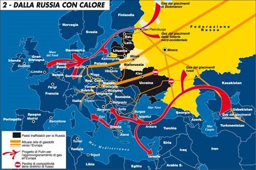 Rete gasdotti russi - Limes
