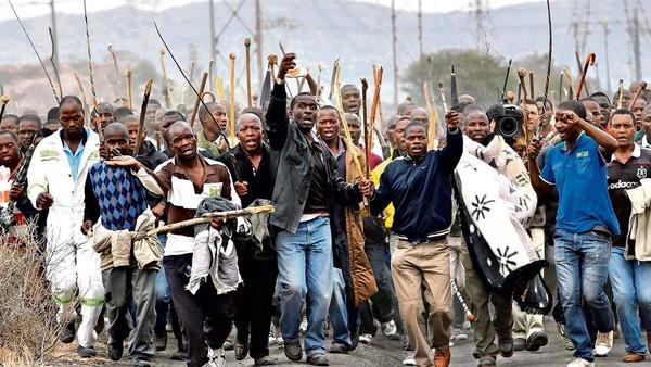 Manifestanti Sudafrica