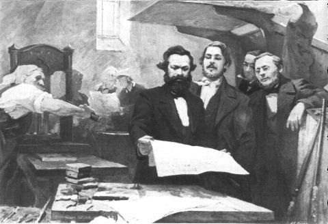Marx e Engels con Neue Rh. Zeitung