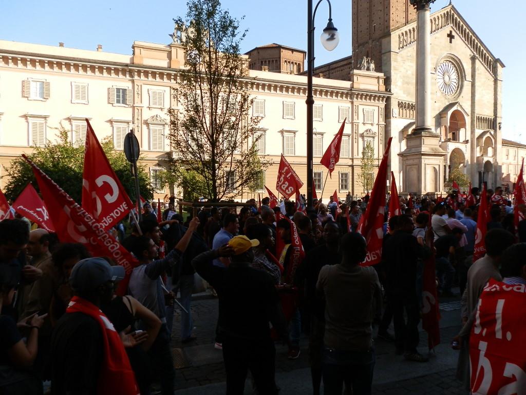 Piacenza - manifestazione facchini