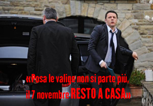 Renzi - Resto a Casa