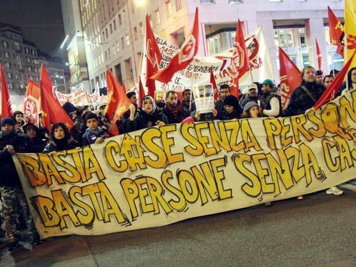 Corteo casa Milano 4-12-2014