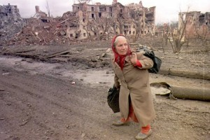 Grozny, distrutta dai bombardamenti russi