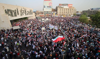 Manifestazione Baghdad