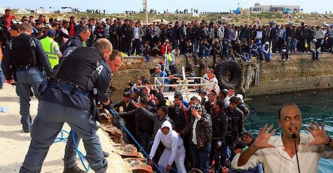 """Per alleggerire la presenza migratoria bisogna """"stabilizzare la Libia"""" e """"creare campi profughi direttamente in Africa"""", parole del ministro Alfano, 10.03.2015"""